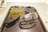 TRAY- 7 PR USED SAFETY GLASSES
