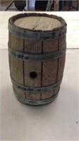 Old 11 inch tall split oak barrel