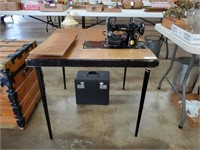Singer 221 Featherweight Machine & Singer Table