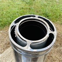 """(2) 36"""" SS Chimney Pipe plus Cap, Brushes w/Rods"""