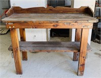 Wood Table/ Bench, Nice and Sturdy