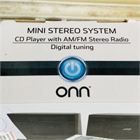 ONN Mini Stereo System w/ CD, looks to be NEW