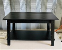 "Black Wooden Stand, 36"" x 16"" x  22"" high"