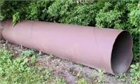 """1/2"""" Thick Steel Tube, 3 ft Diameter, 15 ft long"""
