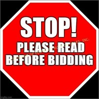 SEPTEMBER 19TH ONLINE CONSIGNMENT AUCTION - BIDDING OPEN