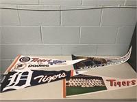 Detroit Tigers & U of M Pennants