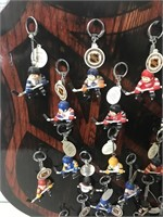NHL Key Chains and Wall hanger