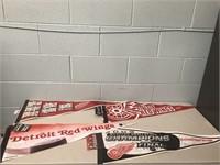 Detroit Red Wings 4 Pennants