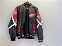Leather Detroit Red Wings Jacket