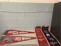 2 Detroit Red wings Pennants & Banners