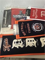 Detroit Red Wings & Tigers Banners & Pennant