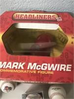 Mark McGwire Figure & Baseballs