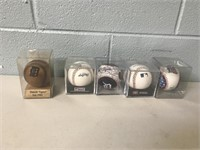 Lot of 5 Baseballs