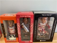 5 New Detroit Red Wings Bobble Heads