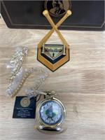 Franklin Mint Babe Ruth Pocket Watch