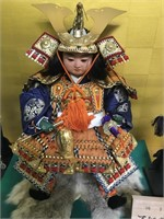 Japanese Shogun Figure with Display case