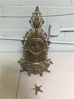 Vintage Brass Mantle Clock