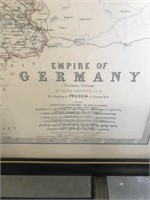 Framed Map of the Empire of Germany