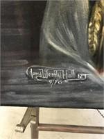 Oil on Velvet by Tony Westlyhall