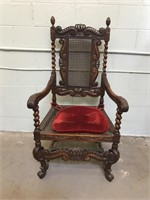 Antique Barley Twist King Chair