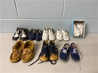 Lot of Vintage Baby Shoes