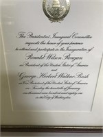 Ronald Reagan Picture & Framed Invitation