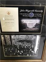 2 Framed JFK Pictures