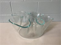 Heavy Hand Blown Glass Bowl