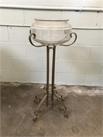 Brass Planter Stand with Bowl