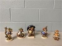 5 Hummel Figurines