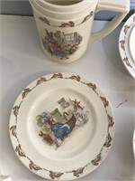 Collection of Bunnykins dishes