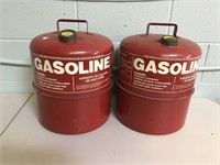 2 Metal 5 1/4 Gallons Gas Cans