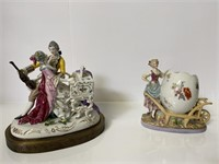 2 Vintage Porcelain Figurines