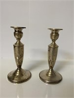 2 Silver Sterling Candle Holders