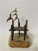 Signed Metal Sculpture