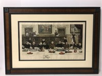 Antique Signed Engraving with Redraw