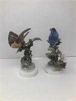 2 Royal Worcester Bird Figurines