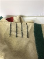 Vintage Wool 3 Strip Blanket
