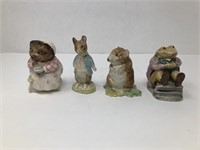 4 Beatrix Potter Beswick Figurines
