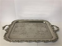Large English Silver Plate Tray