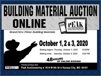 KC October 3rd 2020 Peak Building Material Auction
