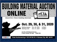 KC October 31st 2020 Peak Building Material Auction