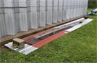 Steel Sheeting plus Steel corners (sizes are below