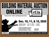Detroit December 2020 Peak Building Material Auction