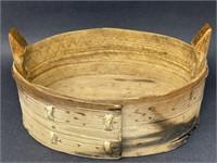 Primitive Scandinavian Bent Wood Tine Box HB