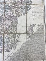 Antique Carl Akrell Swedish Road Map 1830