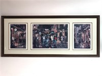 Ann Delorge Signed New Orleans Nights Lithograph