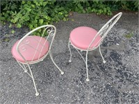 Vintage Glass and Metal Outdoor Table W/Chairs