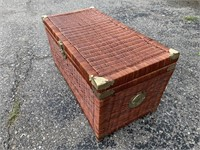 Vintage Wicker Chest