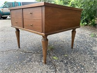 Vintage Wooden MCM End Table